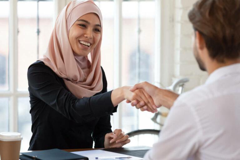 Diverse recruitment interview