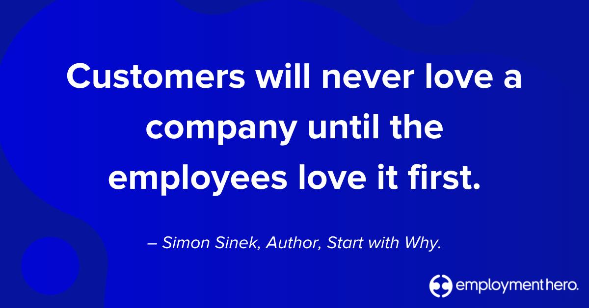 Customer Quote from Simon Sinek