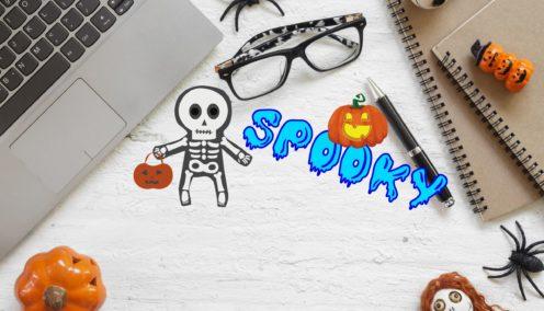 Desk on Halloween