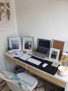 Julias zen work space setup - Work from home culture activities