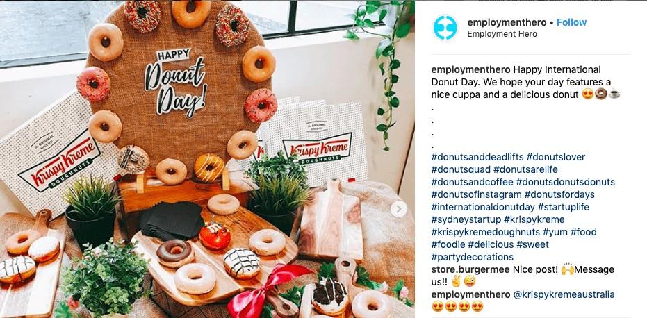 Donut day celebration on Employment Hero