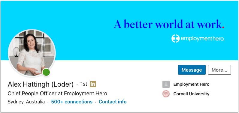 Alex Hattingh - LinkedIn Profile