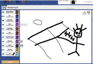 screenshot of skribblo