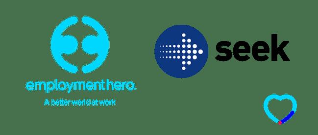 Employment Hero and SEEK logos